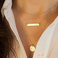 Női Nyaklánc medálok Veterán nyakláncok Geometric Shape Ötvözet Divat Európai Többrétegű Flitter jelmez ékszerek Ékszerek Kompatibilitás