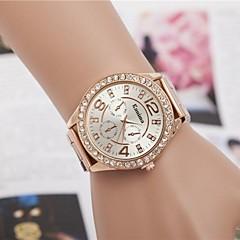 Mulheres Relógio Elegante Relógio de Moda Relógio de Pulso Quartzo Strass Lega Banda Brilhante Prata Dourada Ouro RosePrata Dourado Ouro