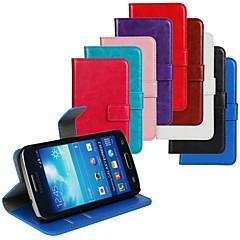 Mert Samsung Galaxy tok Kártyatartó / Állvánnyal / Flip Case Teljes védelem Case Egyszínű Műbőr Samsung Express 2