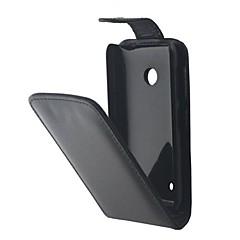 Voor Nokia hoesje Flip hoesje Volledige behuizing hoesje Effen kleur Hard PU-leer Nokia Nokia Lumia 530