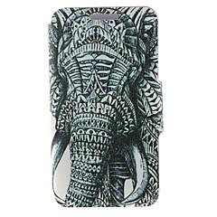Voor Nokia hoesje Kaarthouder / Flip hoesje Volledige behuizing hoesje Olifant Hard PU-leer Nokia Nokia Lumia 630