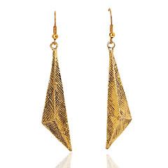 Dame Dråbeøreringe Personaliseret kostume smykker Gyldent Geometrisk form Smykker Til