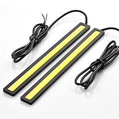 2 stuks 17cm 6w 600-700lm dagrijlichten gele kleur high power cob DRL waterdichte IP68 daglicht (12v)