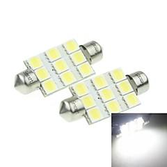 Festoen Automatisch Wit 3W SMD LED 6000-6500 Leeslamp Nummerplaatverlichting Zijmarkeringslichten Deurlicht Spotlamp Hoog Uitgangsvermogen