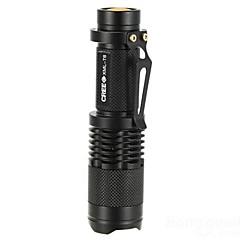 Φακοί LED Φακοί Χειρός LED 1000 Lumens 5 Τρόπος Cree XM-L T6 18650 Ρυθμιζόμενη Εστίαση Ανθεκτικό στα Χτυπήματα Αντιολισθητική λαβή