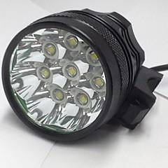 3 Fejlámpák Kerékpár világítás LED 8000LM Lumen 3 Mód Cree XM-L U2 6 x 18650 elemek Újratölthető Vízálló Night vision mert
