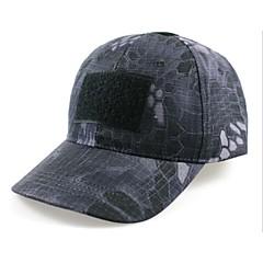 ESDY fiskeri visir udendørs vindtæt polyester camouflage hat baseball cap sol sort python