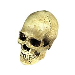 Halloween 2-in-1 emulationalmassage hars schedel decoratie - geel-wit