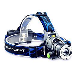 TD286 LED taskulamput Otsalamput LED 800 Lumenia Tila Cree T6 2 x 18650-paristot Säädettävä fokus Ladattava Vedenkestävä varten