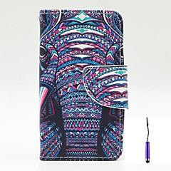 Voor Nokia hoesje Kaarthouder / met standaard / Flip / Patroon hoesje Volledige behuizing hoesje Olifant Hard PU-leer Nokia