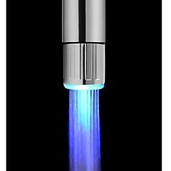 배터리가없는 세련된 물 전원 부엌 파란색 수도꼭지 빛을 주도