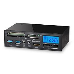 5,25 cala 6 w 1 USB 3.0 wielofunkcyjny czytnik multimedialny panel LCD kontroler wentylatora karty dashboard