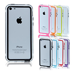 iPhone 5C - Bumper keret - Különleges mintájú ( Piros/Fekete/Fehér/Kék/Rózsaszín/Sárga/Lila/Narancs , Szilikon )
