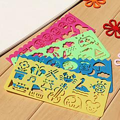 Łatwe dzieci Ruler Drawing (Losowe kolory)
