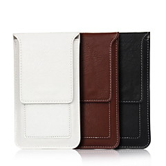 For Pung Kortholder Etui Pose etui Etui Helfarve Blødt Kunstlæder for Universal iPhone 7 Plus iPhone 7 iPhone 6s Plus/6 Plus iPhone 6s/6