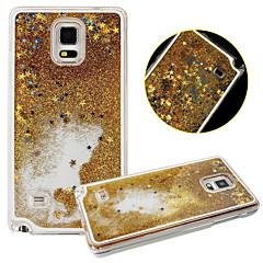 For Samsung Galaxy Note Flydende væske Etui Bagcover Etui Glitterskin PC for Samsung Note 4