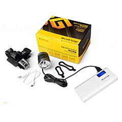 LED Fenerler Bisiklet Işıkları Bisiklet Ön Işığı Bisiklet Arka Işığı LED Cree XM-L L2 Bisiklet Su Geçirmez mobil güç kaynağı Kolay Taşınır