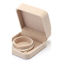 Pudełka na biżuterię Flanela 1szt Camel