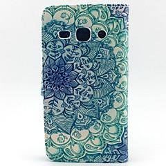 Varten Samsung Galaxy kotelo Lomapkko / Korttikotelo / Tuella / Flip Etui Kokonaan peittävä Etui Mandala Tekonahka SamsungCore Prime /