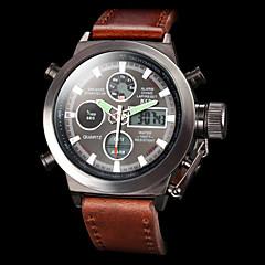 ASJ Herre Sportsur Militærur Armbåndsur Digital Watch Japansk Quartz DigitalLCD Kalender Kronograf Vandafvisende Dobbelte Tidszoner alarm