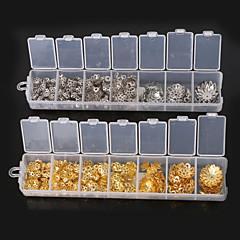 beadia 1 db divat ékszerek megállapításait arany&ródium bevonatú virág alakú gyöngyök sapkák fém távtartó gyöngyök