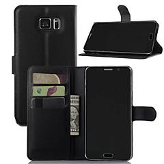 For Samsung Galaxy Note Kortholder Pung Med stativ Flip Etui Heldækkende Etui Helfarve Kunstlæder for SamsungNote 7 Note 5 Note 4 Note 3
