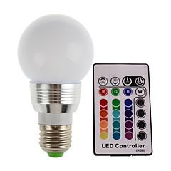 2w e27 / e14 300lm rgb ledet lys farve lampe pære med fjernbetjening (85-265v)