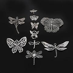 beadia 금속 나비& 잠자리의 매력 펜던트 골동품 실버 DIY 쥬얼리 액세서리