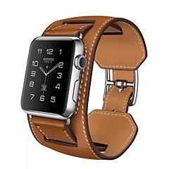 Banda de relogio para relógio de maçã 38mmm pulseira empilhadeira de couro de 42mm com adaptador