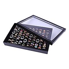 Pudełka na biżuterię Akrylowy / Flanela / Papierowy Czarny / Biały