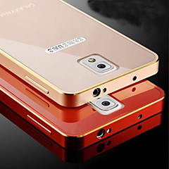 Varten Samsung Galaxy Note Pinnoitus Etui Takakuori Etui Yksivärinen Metalli Samsung Note 4 / Note 3