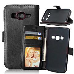 Varten Samsung Galaxy kotelo Korttikotelo / Lomapkko / Tuella / Flip Etui Kokonaan peittävä Etui Yksivärinen Tekonahka SamsungXcover 3 /