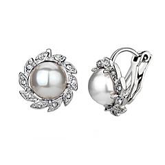 Clip oorbellen Kristal Imitatieparel Kubieke Zirkonia Legering Bloemvorm Zilver Gouden Sieraden Voor Bruiloft Feest Dagelijks Causaal2