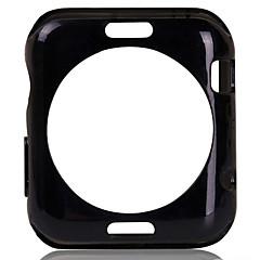 fashionable TPU blød ryg tilfælde dække og hærdet glas skærm protektor for iwatch 38mm / 42mm