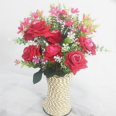 Μετάξι / Πλαστικό Ορχιδέες / Τριαντάφυλλα Ψεύτικα λουλούδια