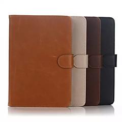 Mert Samsung Galaxy tok Pénztárca / Kártyatartó / Állvánnyal / Flip Case Teljes védelem Case Egyszínű Valódi bőr SamsungTab 4 10.1 / Tab