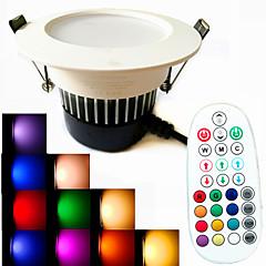9W LED-downlight 18PCS SMD 5730 650 lm Varm hvid / Kold hvid / Naturlig hvid / RGBJustérbar lysstyrke / Lydaktiveret / Fjernstyret /