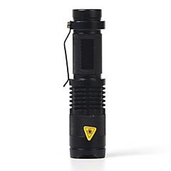 LED zseblámpák LED 2000 Lumen 1 Mód Cree XR-E Q5 14500 AA Állítható fókusz Ütésálló Vízálló Sürgősségi Kis méret Zseb Szuper könnyű High