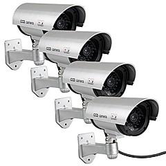 kingneo 4pcs εξωτερική ψεύτικο / εικονική κάμερα για την ασφάλεια αδιάβροχο επιτήρησης CCTV