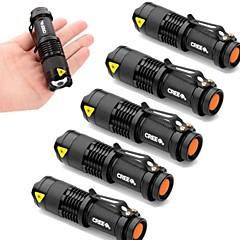 LED zseblámpák LED 2000 Lumen 3 Mód Cree XR-E Q5 14500 AA Állítható fókusz Ütésálló Vízálló Sürgősségi Kis méret Zseb Szuper könnyű High