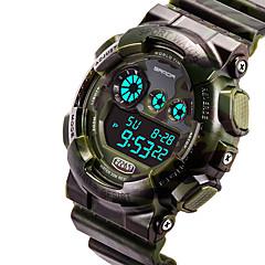 Erkek Spor Saat Moda Saat Bilek Saati Quartz Japon Kuvartz Su Resisdansı Hız Ölçer Kronometre PU Bant Kırmızı SarıGri Sarı Ordu Yeşili