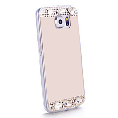 For Samsung Galaxy etui Rhinsten Spejl Etui Bagcover Etui Glitterskin TPU for Samsung S6 edge S6 S5 S4 S3