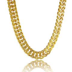Férfi Nyakláncok Circle Shape Line Shape Platina bevonat Arannyal bevont Arannyal töltött Ötvözet Személyre szabott jelmez ékszerek
