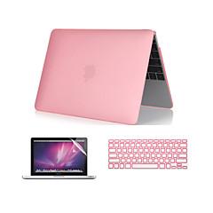 """3 in 1 kristalheldere soft-touch case met afdekking van het toetsenbord en het scherm protector voor macbook pro 13 """"/ 15 ''"""