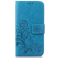 For Samsung Galaxy etui Kortholder Pung Med stativ Flip Præget Etui Heldækkende Etui Blomst Kunstlæder for SamsungS7 edge S7 S6 edge S6