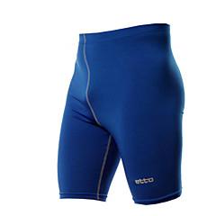 Férfi Kratke hlače za trčanje Tömörítés Kerékpározás Tights Nadrágok Alsók mert Fitnessz Futás Szoros Kék M L XL