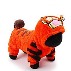 Kat Hond kostuums Jumpsuits Hondenkleding Schattig Cosplay Vakantie Stripprint Oranje