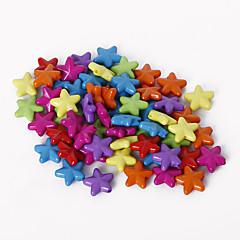beadia 모듬 된 색상 아크릴 구슬 11mm 별 모양의 플라스틱 스페이서 느슨한 비즈 (50g / 약 240pcs)