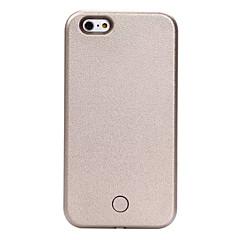 Til iPhone X iPhone 8 iPhone 6 iPhone 6 Plus Etuier Stødsikker Støvsikker Blinkende LED-lys LED Bagcover Etui Helfarve Hårdt Kunstlæder