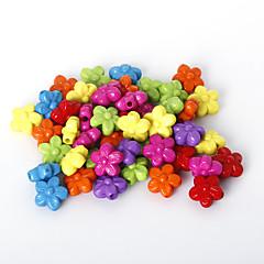 beadia válogatott színes akril gyöngyök 10mm virág alakú műanyag távtartó laza gyöngyök (50g / kb 160pcs)